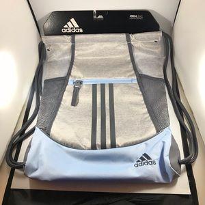 Adidas Alliance II Sackpack blue gray gym bag